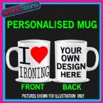 I LOVE HEART IRONING COFFEE MUG GIFT